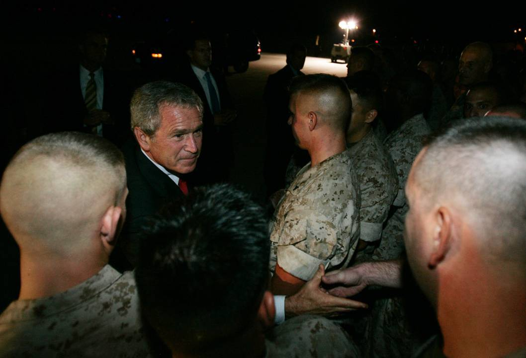 bush send off.jpg